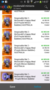 Purple Babbler Minion on eBay
