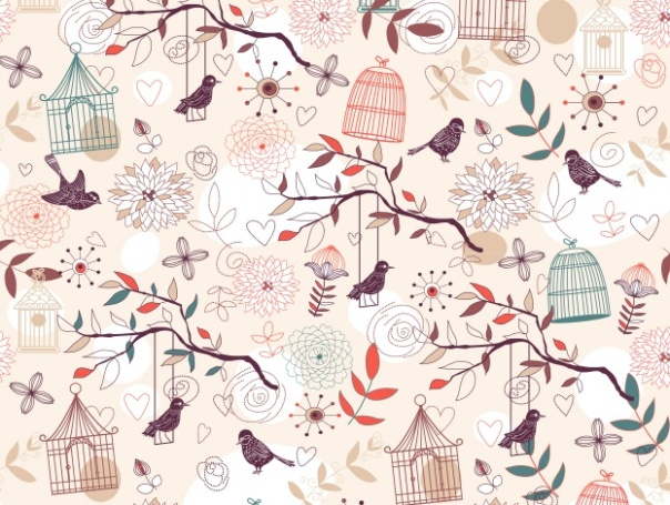 "Inna Ogando ""Pajaros Cages Autumn Pink Bird"""