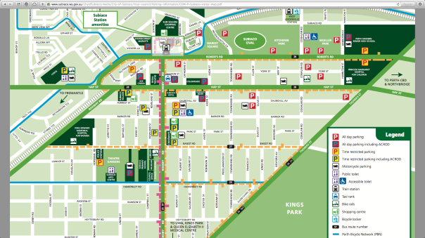 Map of Subiaco
